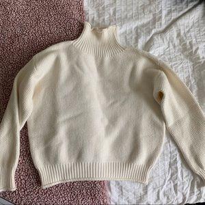 comfy knit turtleneck sweater